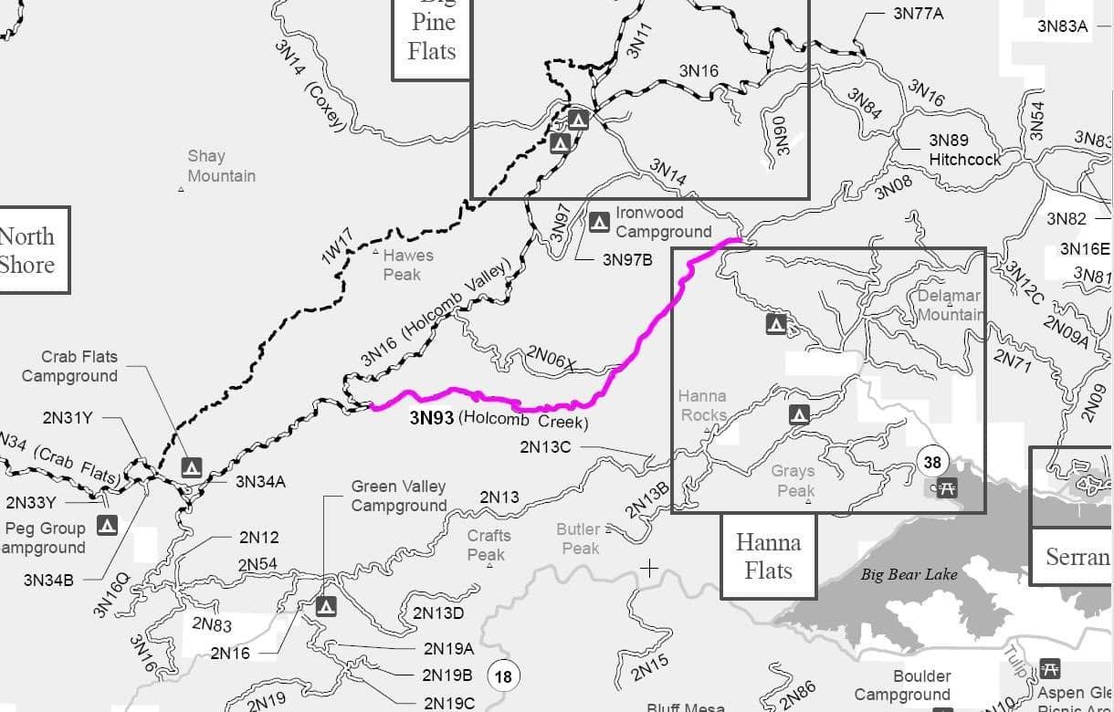 Big Bear S Holcomb Creek Trail Drivingline