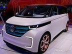 If the VW Bus had a baby with a modern Beetle, it could mature into this, the BUDD-e Concept. The fully electric micro-bus boasts a joint-dropping 233 mile range.