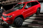 Jeep brings the Grand Cherokee Trailhawk, so if you can't find a parking space at the office,  you can always park on the stairs.