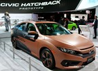 Honda revamps the Civic Hatchback, including this customized exterior by Demi Lovato, a singer who is exactly 20 years younger than the Civic.