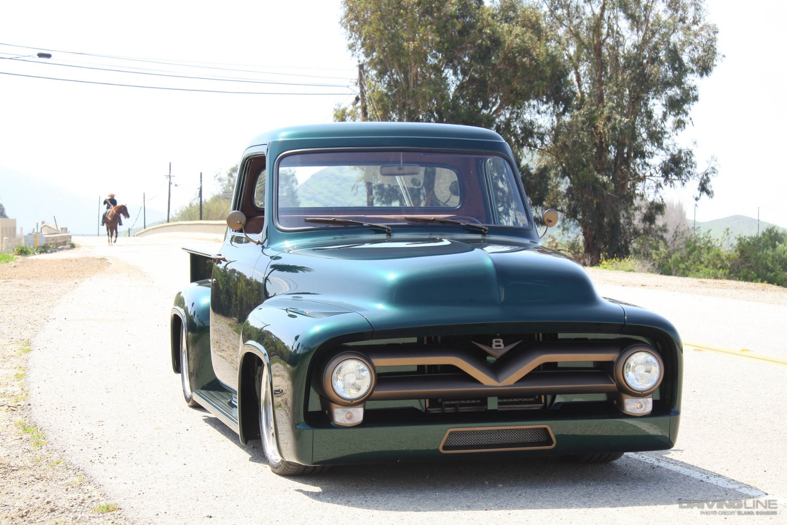 Chasing The Blues Away With A Green Machine Drivingline 1955 Ford F100 Pick Up St Louis 1953 0032 Preview Image