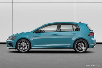 VW Brings the Rainbow With 40 Color Choices for the 2019 Golf R