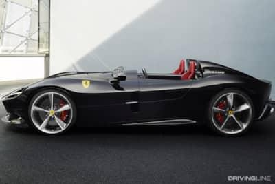 No Windshield Needed Ferrari Debuts 809hp Open Top Monza Sp1 Sp2 Drivingline