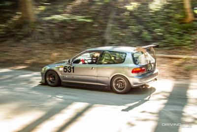 Evan Weider's Honda Civic at Empire Hill Climb