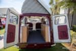 Interior view of a rare Bedford conversion van at the Amelia Island Concours. photo credit: Tara Hurlin