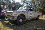 """Parked at Hagerty's Concours d'Lemons, this 1975 Datsun 620 race truck won the """"Soul Sucking Japanese Appliance"""" award. photo credit: Tara Hurlin"""