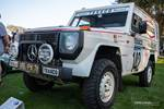 This is a very special Mercedes-Benz G-Class – or G-Wagen. It is a 1983 280 GE rally car, built specifically to take on the terrifying Paris-Dakar rally. It features an aluminum body to make it lighter than the standard G-Wagen. photo credit: Tara Hurlin
