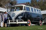 A 23-window VW Bus makes the perfect advertisement to draw attention to a clothing booth. photo credit: Tara Hurlin