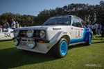 Vintage Ford Escort rally car relaxing in the sun at the Amelia Island Concours. photo credit: Tara Hurlin