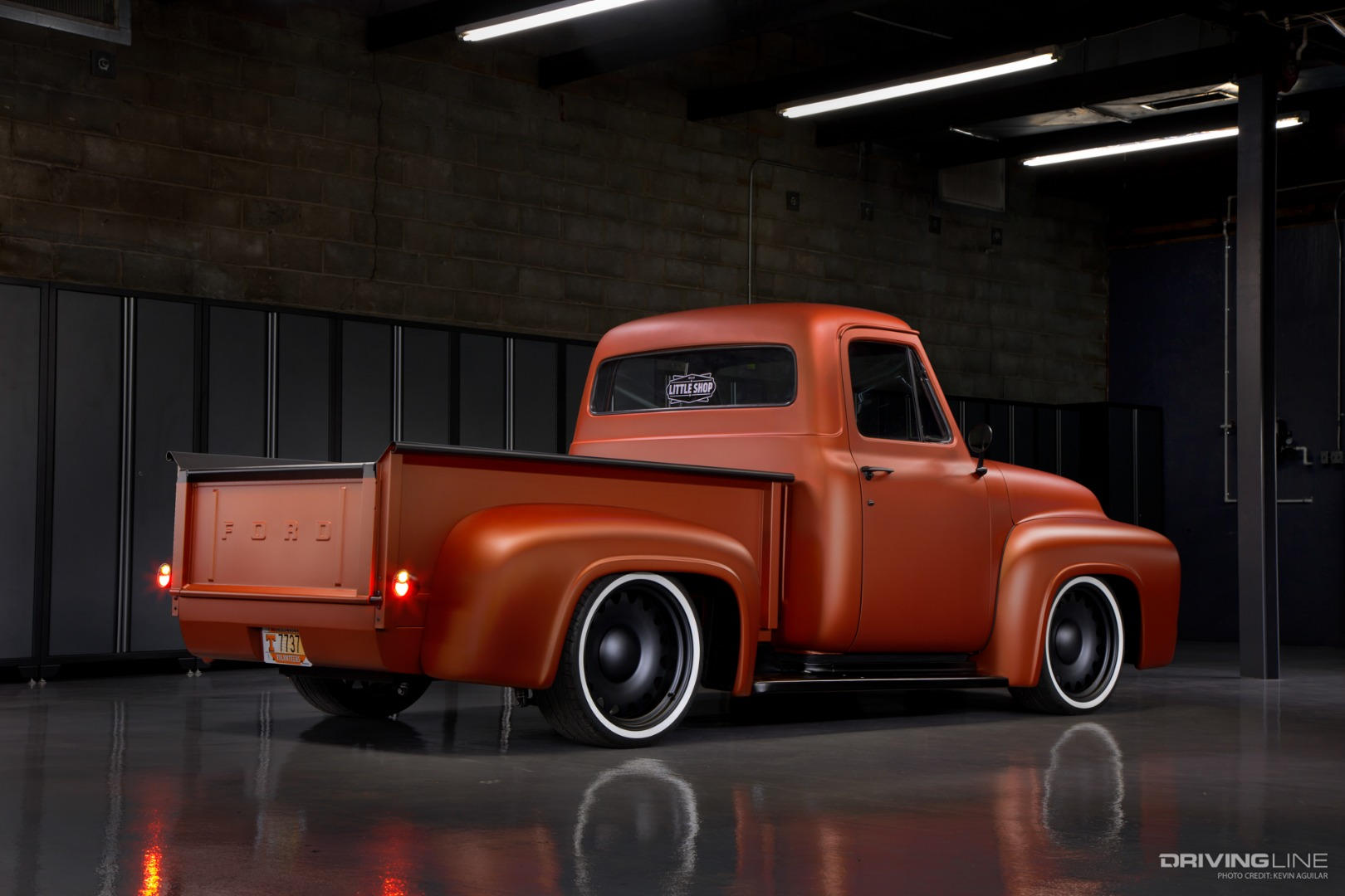 retrofied converging modern tech with vintage 1955 ford f 100 iron