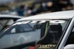 Jimmy Up Matsuri drift bash AE86 Toyota Corolla Nitto Tire windshield banner
