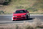 Jimmy Up Matsuri drift bash red Nissan S14 240SX drifting