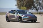 Tesla Model 3 chromatic wrap Vorsteiner photo credit: Andrew Modena
