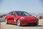 Red Tesla Model 3 Tesla Corsa photo credit: Andrew Modena