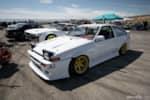 Jimmy Up Matsuri Danny Giraldo's 4A-GE AE86 Toyota Corolla in the pits