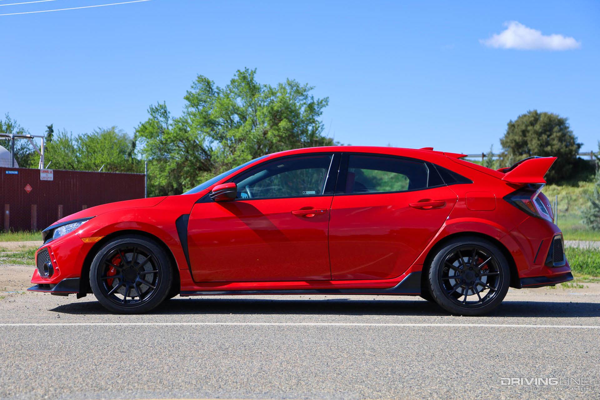 Civic Type R 18 Nt05 Tire And Titan 7 Wheel Swap Drivingline