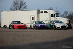 Race cars parked at Gridlife Mid-Ohio waiting to race. photo credit: Tara Hurlin