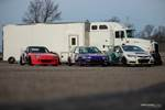 Race cars parked at Gridlife Mid-Ohio waiting to race. photo credit: Tara Hurlin