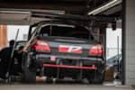 Pure Tuning Subaru in the garage at Gridlife Mid-Ohio photo credit: Tara Hurlin