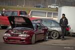 Turbocharged Nissan waiting for its turn on the track at Gridlife Mid-Ohio photo credit: Tara Hurlin