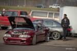Turbocharged Nissan waiting for its turn on the track at Gridlife Mid-Ohio photo credit: Tara Hurlin