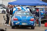 Subaru and team waiting for the next race at Gridlife Mid-Ohio photo credit: Tara Hurlin