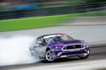 Chelsea Denofa slid his Ford Mustang RTR to a podium finish at Formula Drift Orlando photo credit: Valters Boze