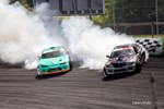 Odi Bakchis tandems in practice with Alex Heilbrunn before winning Formula Drift Orlando photo credit: Valters Boze