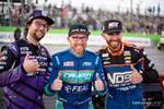 Odi Bakchis won Formula Drift Orlando, with Chris Forsberg taking second place and Chelsea Denofa rounding out the podium in third place photo credit: Valters Boze