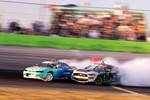 "Vaughn Gittin Jr. pushed Odi Bakchis to a second ""sudden death"" battle against Odi Bakchis in their Final 4 tandem battle at Formula Drift Orlando photo credit: Valters Boze"
