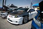 190507 - Eibach Honda meet and drags at Fontana white ninth-gen Honda Civic show car