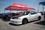 Eibach Honda meet and drags at Fontana white DC2 Integra Type R