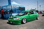 Eibach Honda meet and drags at Fontana green EG Civic