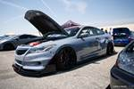 Eibach Honda meet and drags at Fontana gray Accord Coupe time attack style