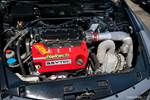 Eibach Honda meet and drags at Fontana Gray Accord coupe turbocharged engine bay