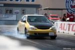 Eibach Honda meet and drags at Fontana gold EP3 Honda Civic burnout box drag racing