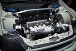Eibach Honda Meet and Drags at Fontana Ryan Hoegner Pandem EK Civic Kraftwerks K-series engine bay