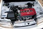Eibach Honda Meet and Drags at Fontana GReddy turbo EF Civic engine bay