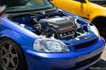Eibach Honda Meet and Drags at Fontana J-series J32 engine bay EK Civic