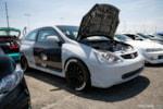 Eibach Honda Meet and Drags at Fontana gray and black K20-swapped EP3 Honda Civic Si
