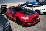 Eibach Honda Meet and Drags at Fontana red and carbon fiber Honda CR-Z
