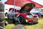 Hyperfest at VIR E36 BMW M3 drift car in the pits photo credit: Luke Munnell