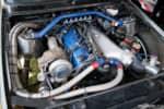 Hyperfest at VIR E30 BMW turbocharged engine bay photo credit: Luke Munnell