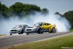 Hyperfest at VIR Chelsea Denofa and Vaughn Gittin Jr Ford Mustang RTR tandem drifting photo credit: Luke Munnell