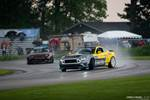 Gridlife Midwest Festival Chelsea DeNofa RTR Ford Mustang drifting in the rain
