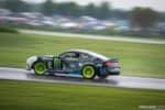 Gridlife Midwest Festival Vaughn Gittin Jr Ford RTR Mustang drifting in the rain