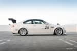 Side profile BuildJournal BMW E46 M3 on Silver Volk Racing TE37 photo credit: Andrew Lim
