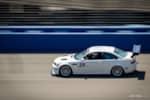 BuildJournal Alpine White BMW E46 M3 Silver TE37 on race track photo credit: Andrew Lim