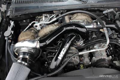 lbz duramax diesel engine in a chevrolet suburban