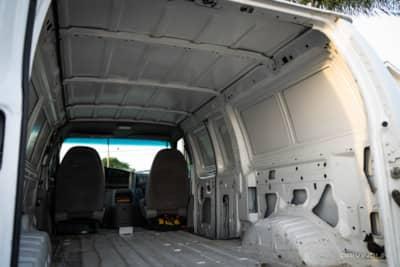 Ford E350 minivan interior